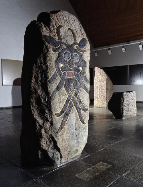 """""""Maskestenen"""" er i dag udstillet på Moesgård Museum. © Moesgård Museum."""