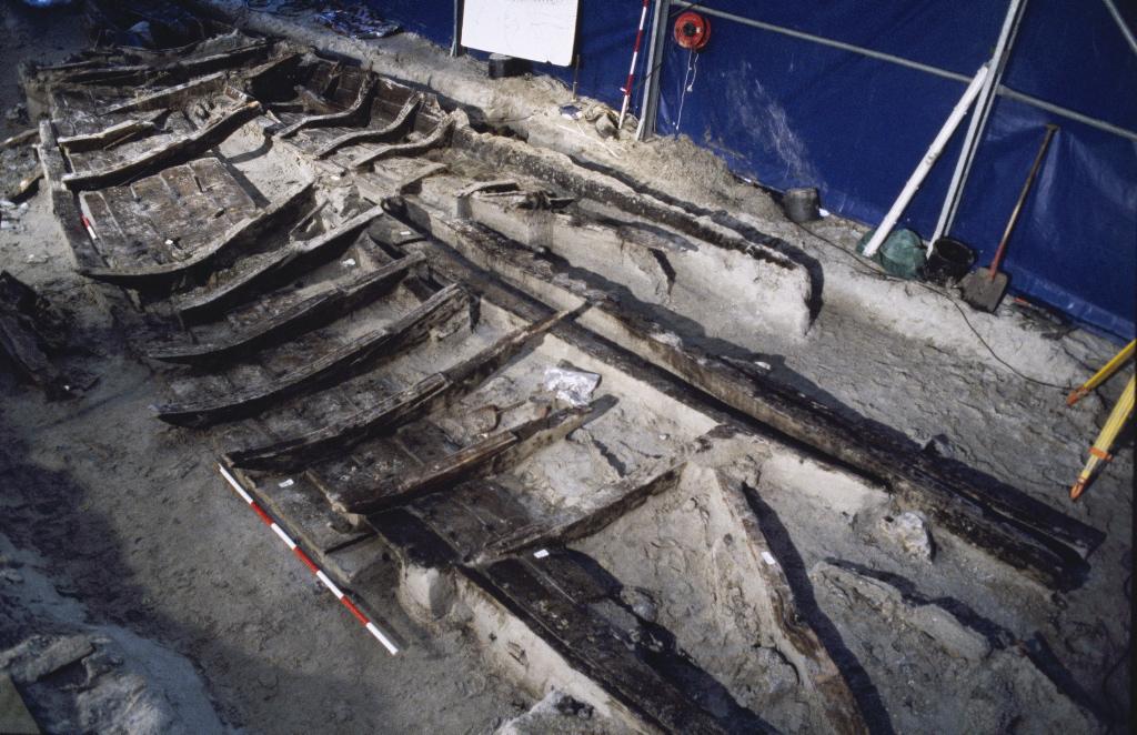 Skuldelev 2 under udgravning