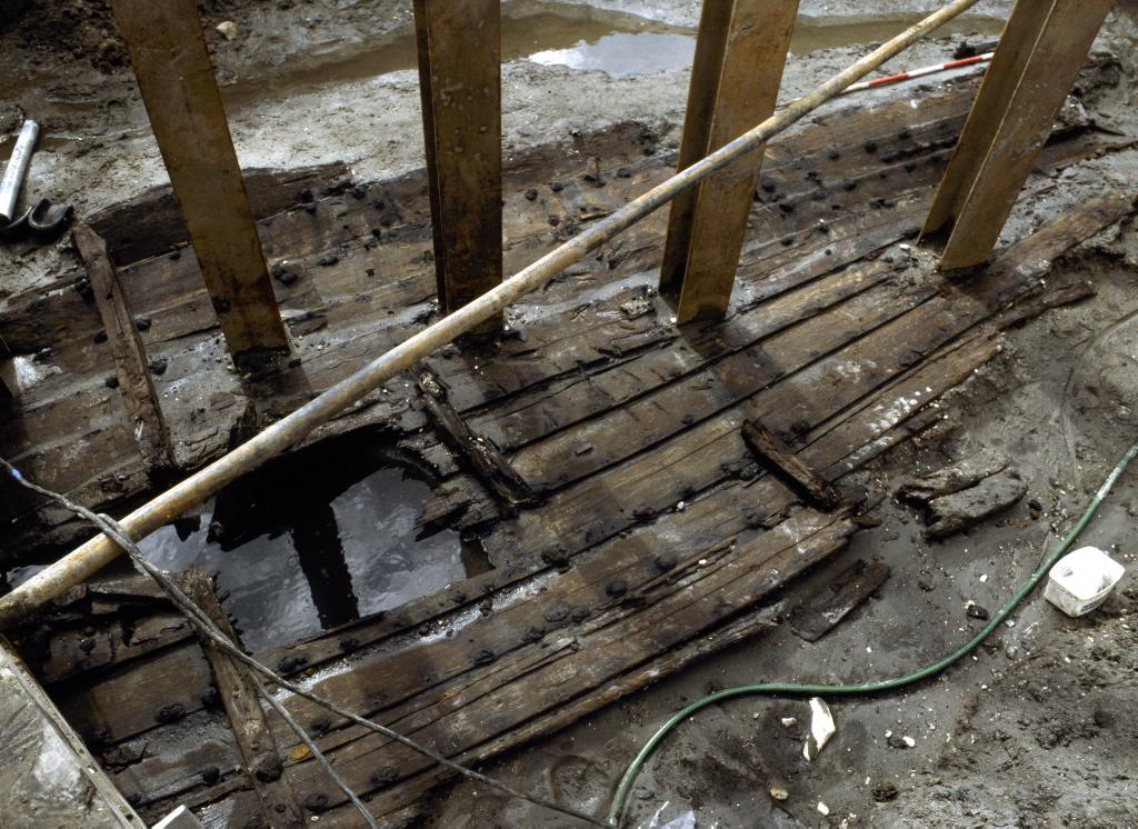 Skuldelev 9 under udgravning