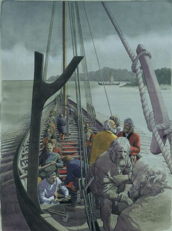 Tegning: Flemmin Bau. Copyright Vikingeskibsmuseet