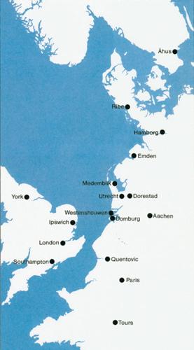 Allerede i begyndelsen af 700tallet var Ribe et knudepunkt for handel mellem Skandinavien og resten af Europa. Foto: Den Antikvariske Samling, Ribe