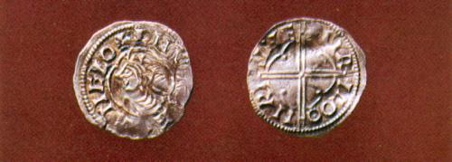 Knud den Store mønter fra Ribe. Foto: Den Antikvariske samling, Ribe