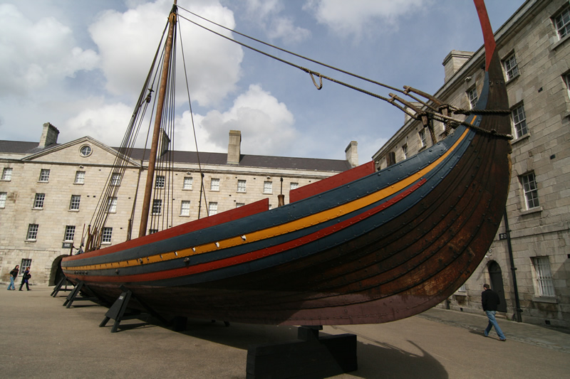 The Sea Stallion as it appeared in Collins Barracks in Dublin. Thousands of people visited the ship during the 10 months it spent in Ireland's capital city. Photo: Dave Betson