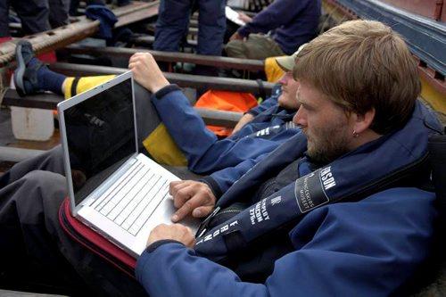 Havhingstens webmaster, Preben Rather Sørensen. Foto: Werner Karrasch, Vikingeskibsmuseet i Roskilde.
