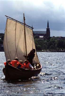 I maj, juni og september sejles med turister på helligdage og i weekends. I juli og august sejles hver dag. Foto Werner Karrasch