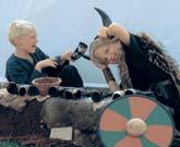 Der er vikingemarked på museet i forbindelse med Havhingstens afsejling den 1. juli 2007. Foto Werner Karrasch