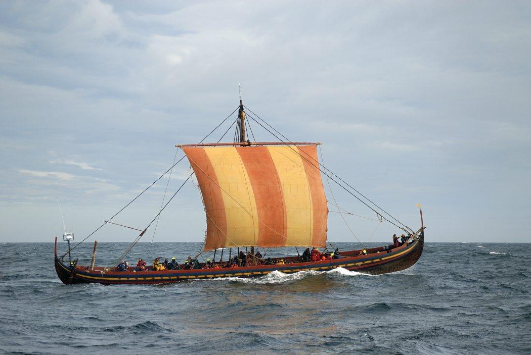 Havhingsten i det Irske hav. Dublintogtet 2007. Foto: Werner Karrasch / Copyright: Vikingeskibsmuseet i Roskilde
