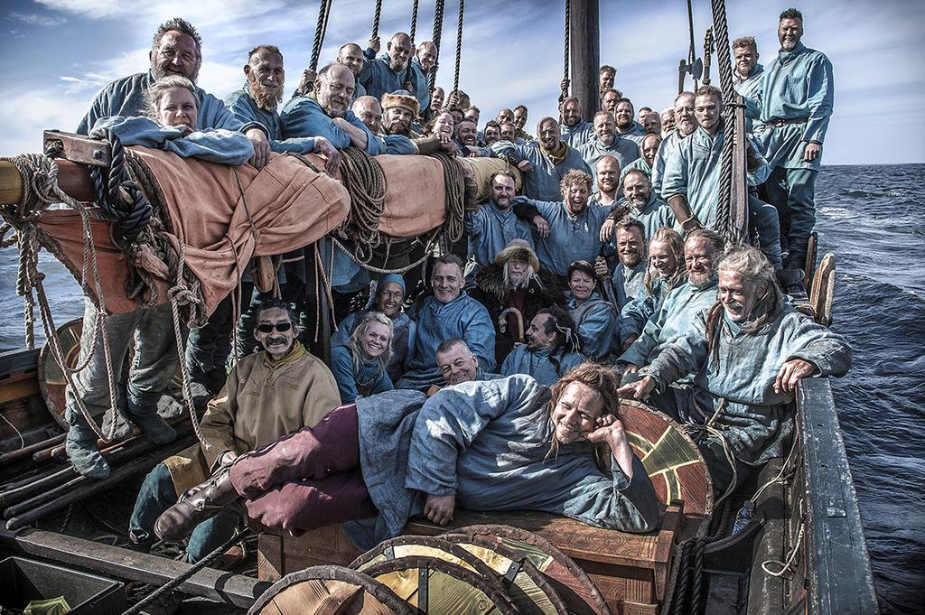 The Viking Ship Museum's ships and locations can be used for both documentary and feature films. Here is the statistics crew in the Sea Stallion for BBC's Last Kingdom series