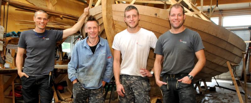 fra venstre: Ture M Møller, Hanus Jensen, Simon Day Larsen, Erik Jochumsen