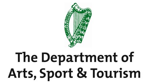 Det irske ministerium for kunst, kultur, sport og turisme støtter projektet