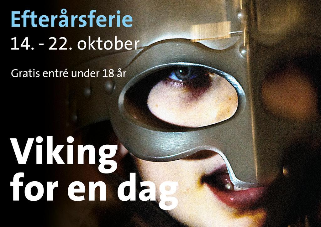 Efterårsferie på Vikingeskibsmuseet i Roskilde. Bliv 'Viking for en dag' 14. til 22. oktober