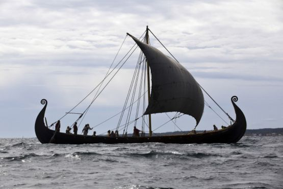 The Oseberg Ship, which is exhibited at the Viking Ship Museum, Bygdøy, Oslo, Norway (Photo: Jørgen Kirsebom)