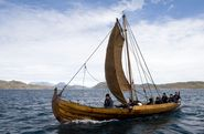 In 2016, the Viking ship 'Skjoldungen' conducted an experimental journey along the west coast of Greenland. This year's experimental journey is about 775 nautical miles, from the Sognefjord area in Norway to Roskilde in Denmark. Photo: John Rasmussen