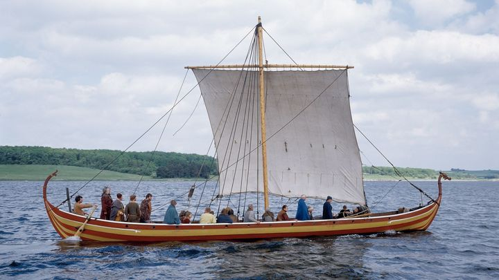 Helge Ask. A Viking ship, you can sail in Roskilde, Denmark
